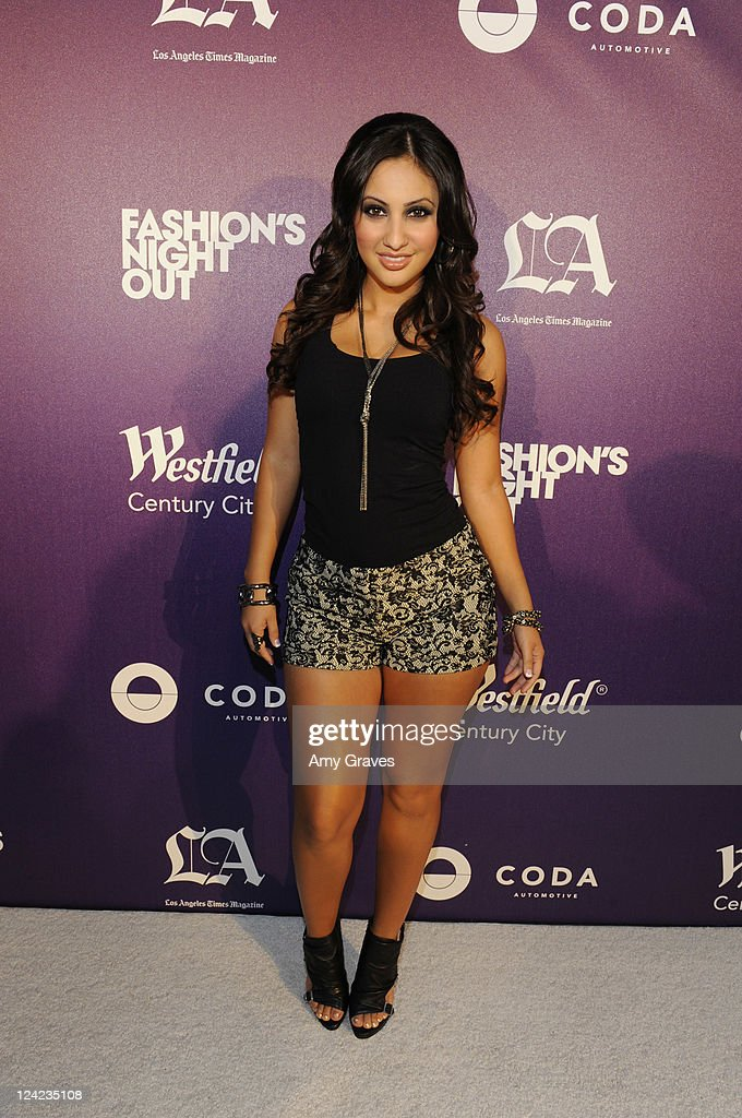 Francia Raisa attends Fashion's Night Out celebration at Westfield Century City on September 8, 2011 in Los Angeles, California.