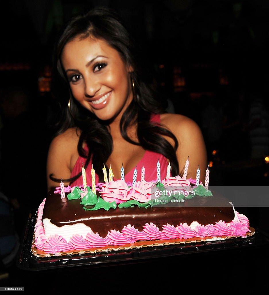 Francia Raisa celebrates her 21st birthday at Blush nightclub at Wynn Las Vegas on August 6 2009 in Las Vegas Nevada