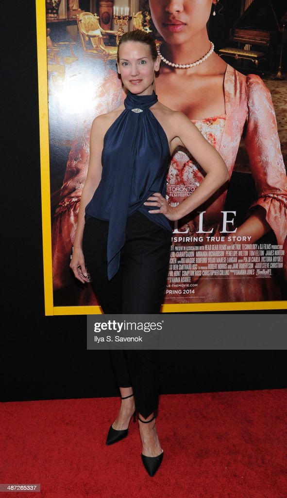 Francie Swift attends the 'Belle' premiere at The Paris Theatre on April 28, 2014 in New York City.