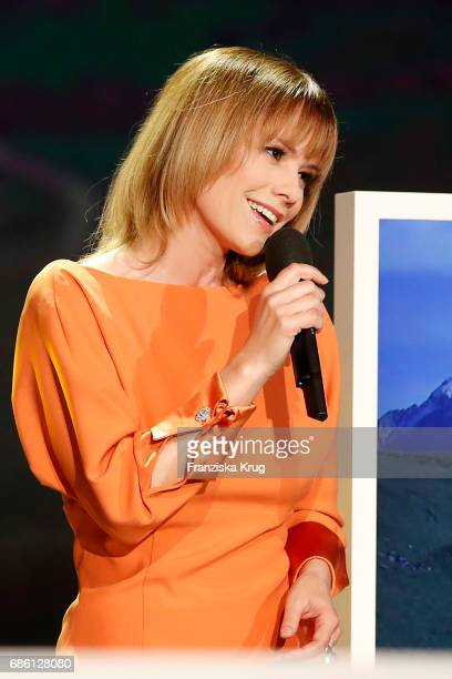 Francine Jordi performs on stage at the tv show 'Willkommen bei Carmen Nebel' at Velodrom on May 20 2017 in Berlin Germany