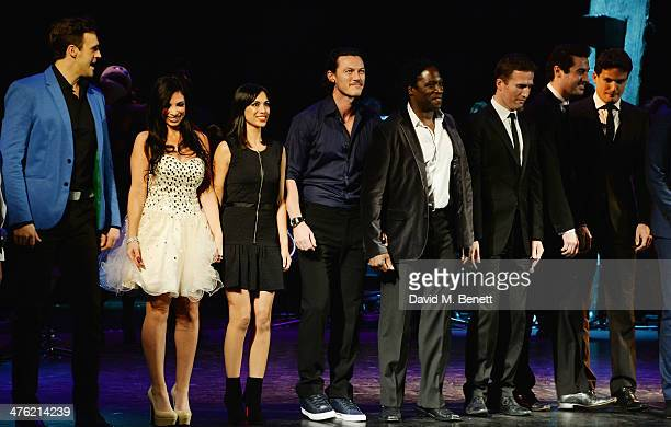 Francine Lewis Fiona Wade Luke Evans Hugh Maynard Humphrey Berney Ollie Baines and Stephen Bowman of Blake attend at the 'You'll Never Walk Alone'...