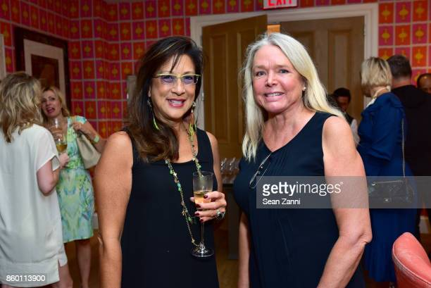 Francine Shane and Carol Hayes attend the launch of The Collector Geneva's Sophie Bonvin Code Collection in Collaboration with artist Bill Claps at...