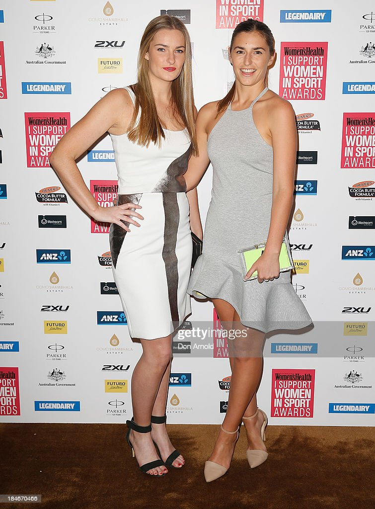 Francis Abbott and Bridget Abbott arrive at the 'I Support Women In Sport' awards at The Ivy Ballroom on October 15, 2013 in Sydney, Australia.