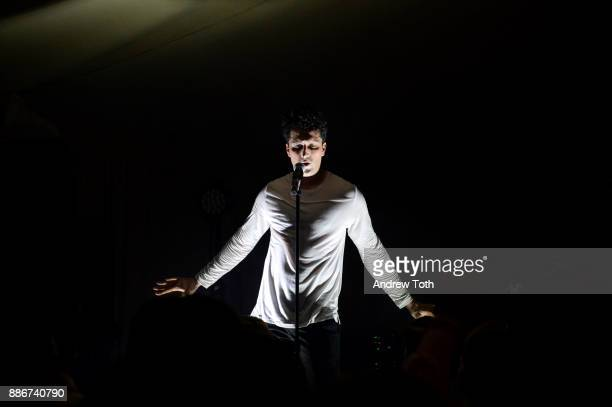 Francis and the Lights performs onstage during a White Cube Soho Beach House Party During Art Basel Miami Beach 2017 at Soho Beach House on December...