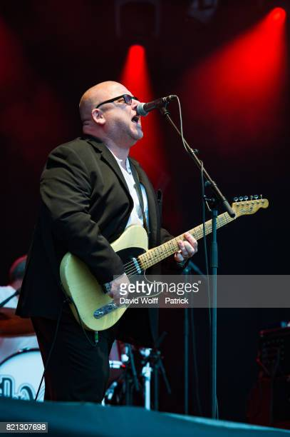 Francis Black from The Pixies performs during first Lollapalooza Festival in France at Hippodrome de Longchamp on July 23 2017 in Paris France