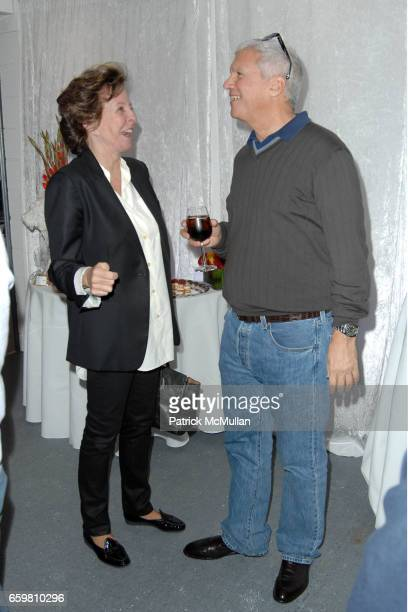 Francis Bose and Larry Gagosian attend Larry Gagosian Hosts Private Reception and Brunch to Celebrate Jeff Koons New Paintings at Gagosian Gallery on...