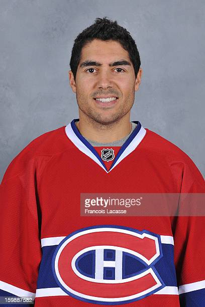Francis Bouillon of the Montreal Canadiens poses for his official headshot for the 20122013 season on January 13 2013 at the Bell Sports Complex in...