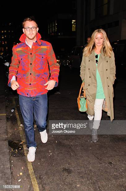 Francis Boulle and Caggie Dunlop from the cast of Made in Chelsea arrive at the launch of Millie Mackintosh's Nouveau lashes at Sanctum Soho on...