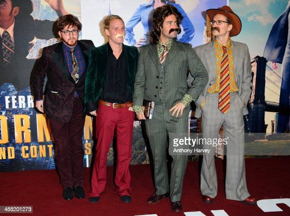 Francis Boulle Jamie Laing Spencer Matthews and Oliver Proudlock attend the UK premiere of 'Anchorman 2 The Legend Continues' at Vue West End on...