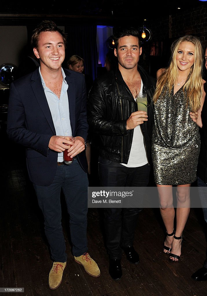 Francis Boulle, Spencer Matthews and Stephanie Pratt attend an after party following 'A Curious Night at the Theatre', a charity gala evening to raise funds for Ambitious about Autism and The National Autistic Society, at Century Club on July 1, 2013 in London, England.