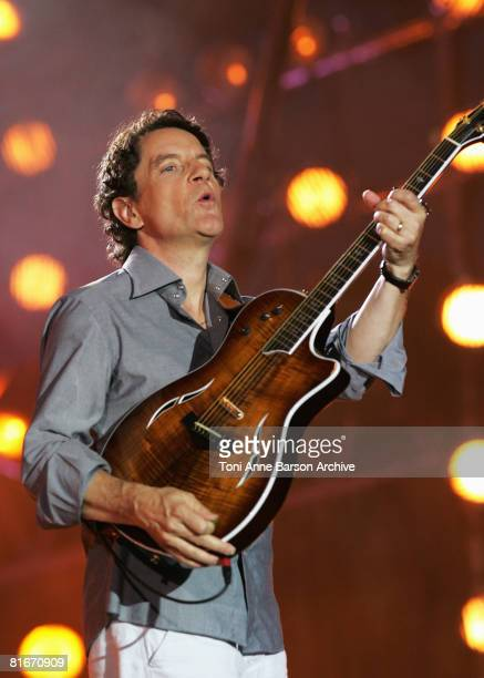 Francis Cabrel performs at the France 2 Television's 'Fete de la Musique' at the Auteuil Horse track on June 21 2008 in Paris France