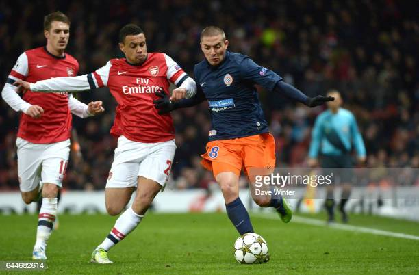 Francis COQUELIN / Anthony MOUNIER Arsenal / Montpellier Ligue des Champions Photo Dave Winter / Icon Sport