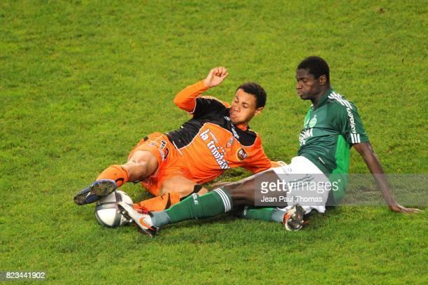 Francis COQUELIN / Guirane N'DAW Saint Etienne / Lorient 12eme journee de Ligue1
