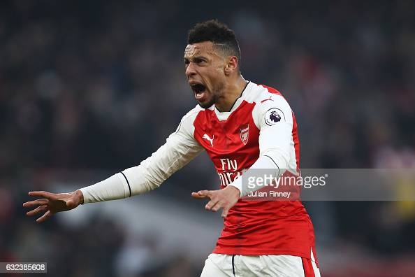 Francis Coquelin of Arsenal celebrates his side's 21 win after the Premier League match between Arsenal and Burnley at the Emirates Stadium on...