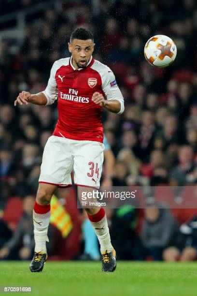 Francis Coquelin of Arsenal controls the ball during UEFA Europa League Group H match between Arsenal and Red Star Belgrade at The Emirates London 2...