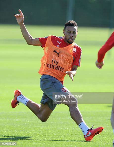 Francis Coquelin of Arsenal during a training session at London Colney on September 23 2016 in St Albans England
