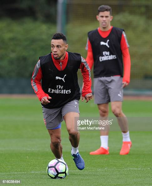 Francis Coquelin of Arsenal during a training session at London Colney on October 21 2016 in St Albans England