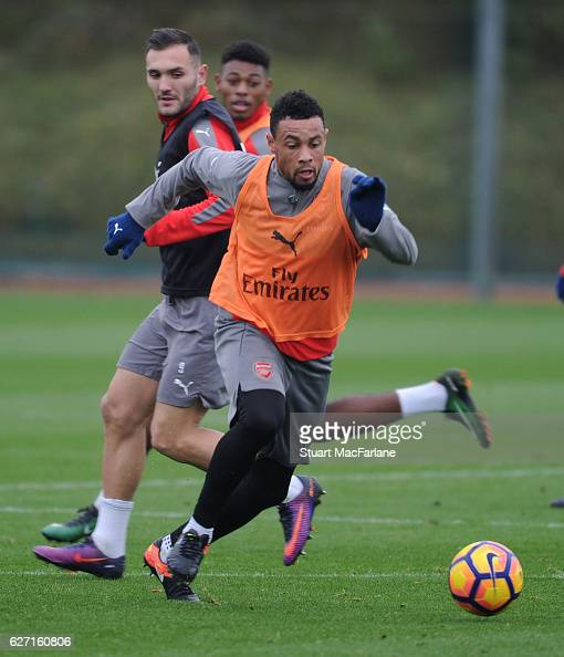 Francis Coquelin of Arsenal during a training session at London Colney on December 2 2016 in St Albans England