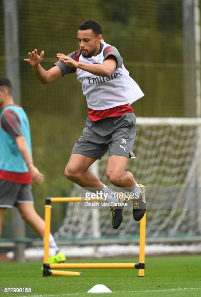 Francis Coquelin of Arsenal during a training session at London Colney on July 26 2017 in St Albans England
