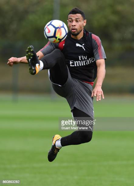 Francis Coquelin of Arsenal during a training session at London Colney on October 13 2017 in St Albans England