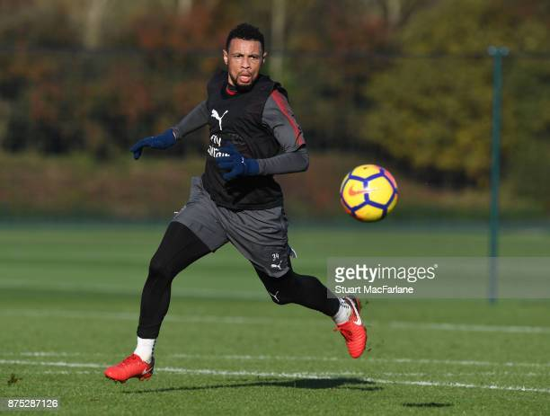 Francis Coquelin of Arsenal during a training session at London Colney on November 17 2017 in St Albans England