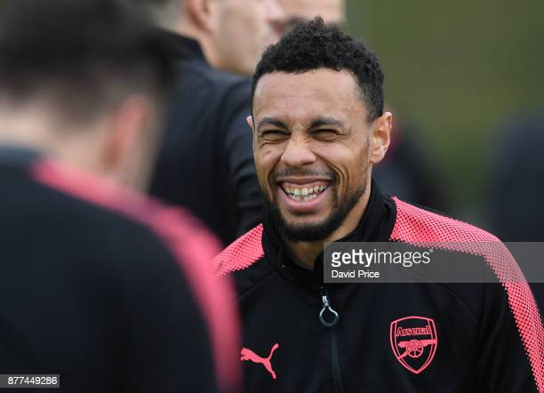 Francis Coquelin of Arsenal during the 1st team training session at London Colney on November 22 2017 in St Albans England