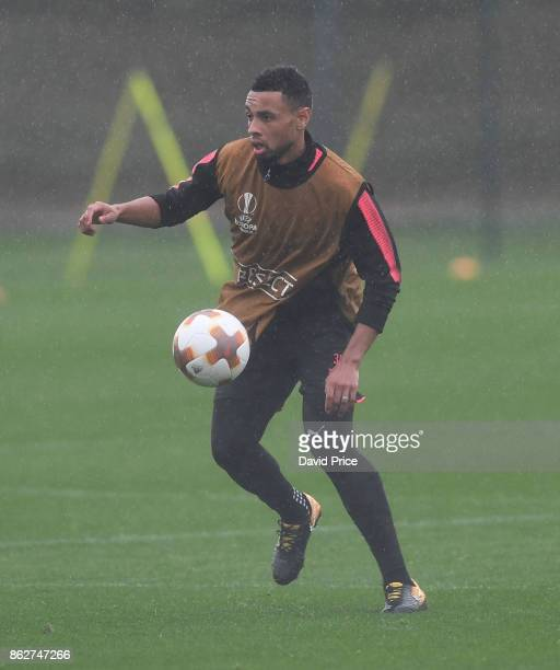 Francis Coquelin of Arsenal during the Arsenal Training Session at London Colney on October 18 2017 in St Albans England