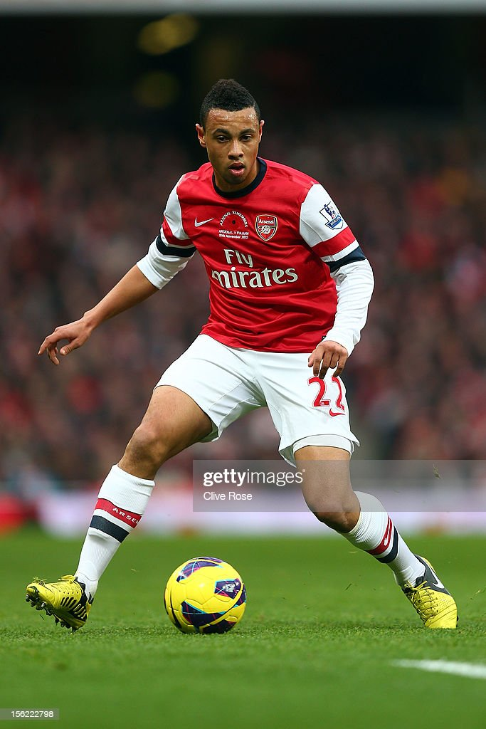 Francis Coquelin of Arsenal during the Barclays Premier League match between Arsenal and Fulham at Emirates Stadium on November 10, 2012 in London, England.