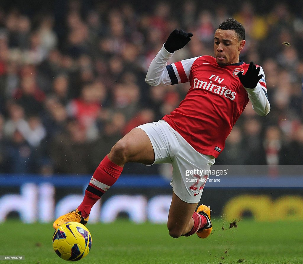 Francis Coquelin of Arsenal during the Barclays Premier League match between Chelsea and Arsenal at Stamford Bridge on January 20, 2013 in London, England.