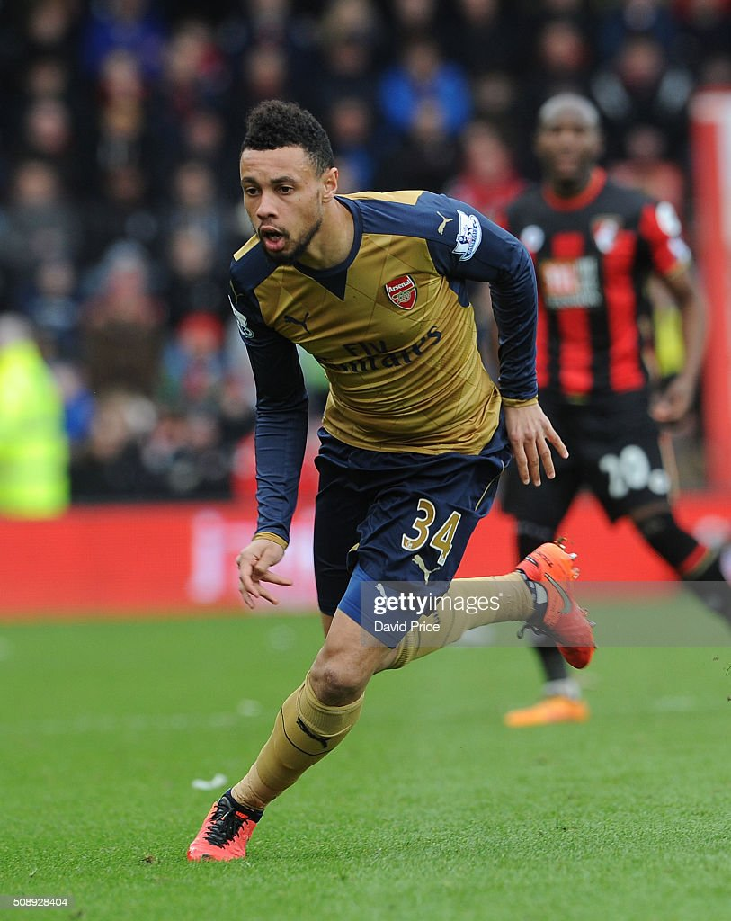 <a gi-track='captionPersonalityLinkClicked' href=/galleries/search?phrase=Francis+Coquelin&family=editorial&specificpeople=8957797 ng-click='$event.stopPropagation()'>Francis Coquelin</a> of Arsenal during the Barclays Premier League match between AFC Bournemouth and Arsenal at The Vitality Stadium, Bournemouth 7th February 2016.