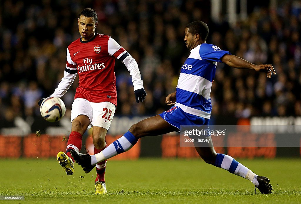 Francis Coquelin of Arsenal during the Capital One Cup Fourth Round match between Reading and Arsenal at Madejski Stadium on October 30, 2012 in Reading, England.