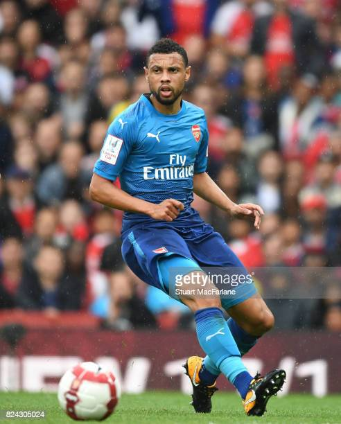 Francis Coquelin of Arsenal during the Emirates Cup match between Arsenal and SL Benfica at Emirates Stadium on July 29 2017 in London England