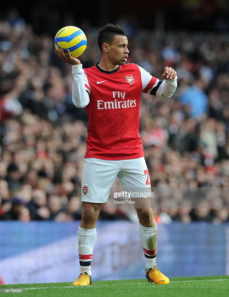Francis Coquelin of Arsenal during the FA Cup Fifth Round match between Arsenal and Blackburn Rovers at the Emirates Stadium on February 16, 2013 in London, England.