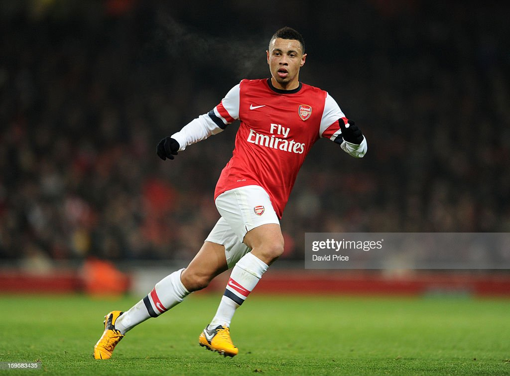 Francis Coquelin of Arsenal during the FA Cup Third Round Replay match between Arsenal and Swansea City at the Emirates Stadium on January 16, 2013 in London, England.