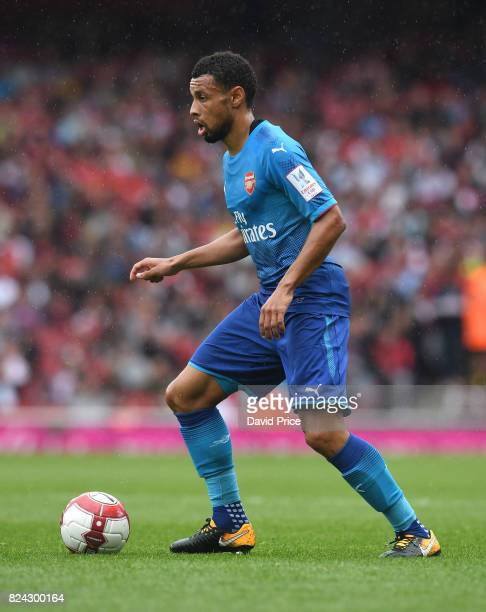 Francis Coquelin of Arsenal during the match between Arsenal and SL Benfica at Emirates Stadium on July 29 2017 in London England