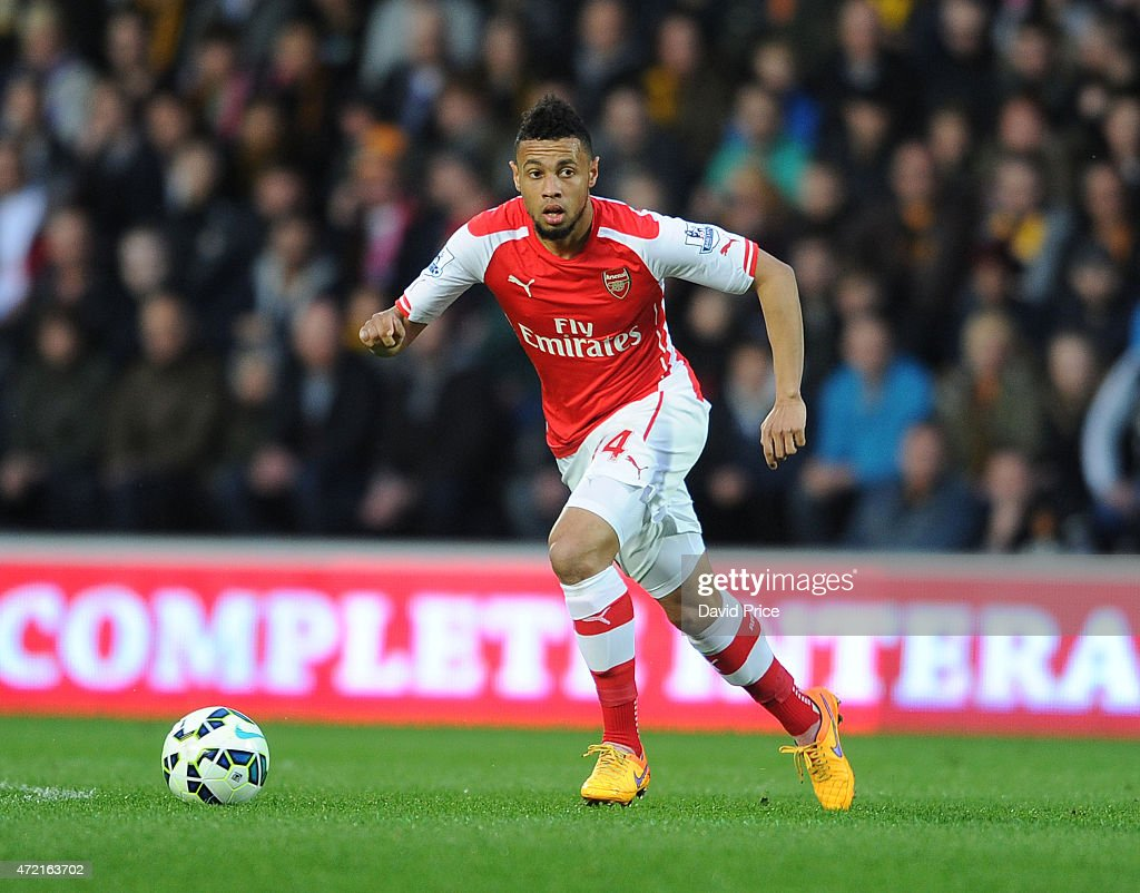 Francis Coquelin of Arsenal during the match between Hull City and Arsenal at KC Stadium on May 4 2015 in Hull England