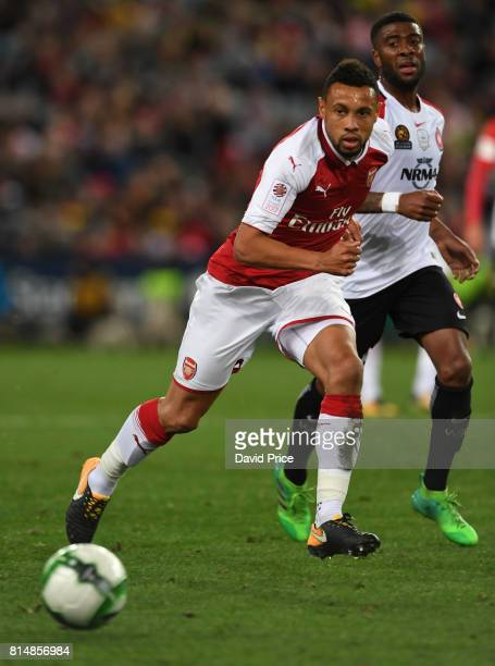 Francis Coquelin of Arsenal during the match between the Western Sydney Wanderers and Arsenal FC at ANZ Stadium on July 15 2017 in Sydney Australia