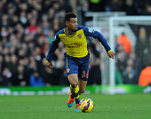 Francis Coquelin of Arsenal during the match between West ham United and Arsenal in the Barclays Premier League at Boleyn Ground on December 28 2014...