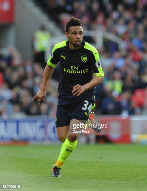 Francis Coquelin of Arsenal during the Premier League match between Stoke City and Arsenal at Bet365 Stadium on May 13 2017 in Stoke on Trent England