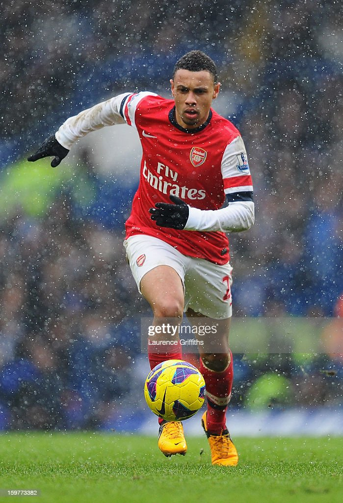 Francis Coquelin of Arsenal in action during the Barclays Premier League match between Chelsea and Arsenal at Stamford Bridge on January 20, 2013 in London, England.