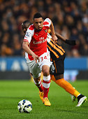Francis Coquelin of Arsenal in action during the Barclays Premier League match between Hull City and Arsenal at KC Stadium on May 4 2015 in Hull...