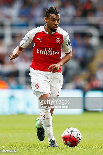 Francis Coquelin of Arsenal in action during the Barclays Premier League match between Newcastle United and Arsenal at St James' Park on August 29...