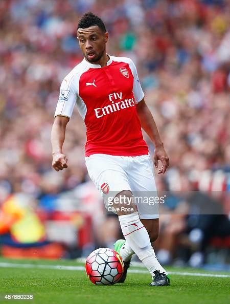 Francis Coquelin of Arsenal in action during the Barclays Premier League match between Arsenal and Stoke City at the Emirates Stadium on September 12...