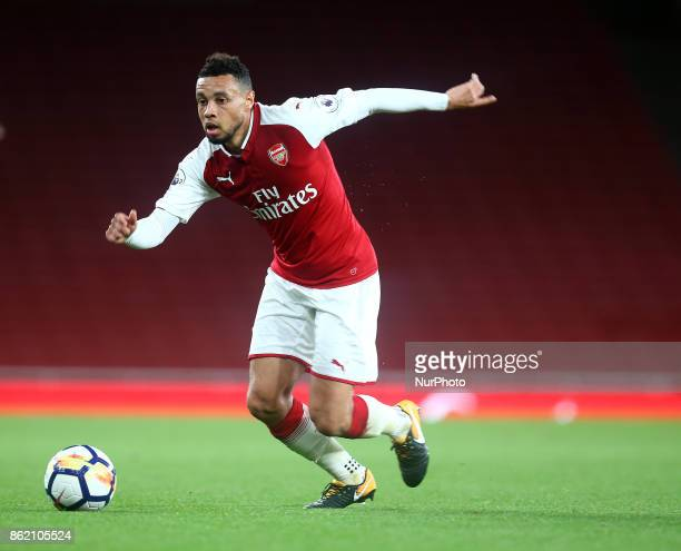 Francis Coquelin of Arsenal U23s during Premier League 2 Division 1match between Arsenal Under 23s against Sunderland Under 23s at Emirates Stadium...