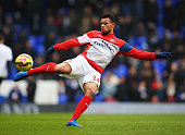 Francis Coquelin of Arsenal warms up prior to the Barclays Premier League match between Tottenham Hotspur and Arsenal at White Hart Lane on February...