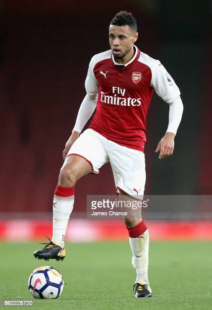 Francis Coquelin of Arsneal in action during the Premier League 2 match between Arsenal and Sunderland at Emirates Stadium on October 16 2017 in...