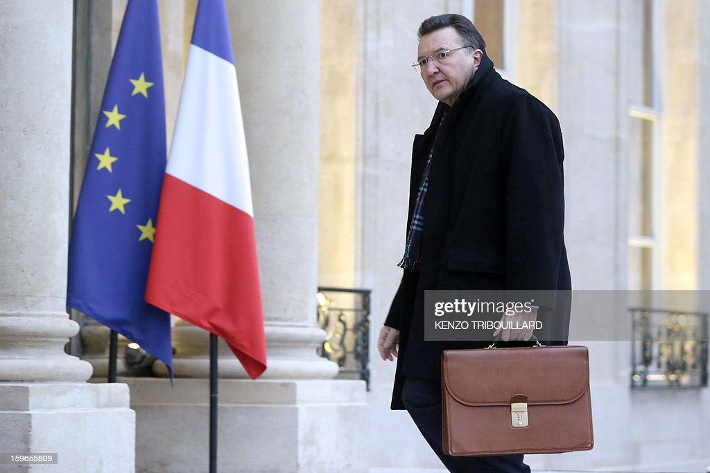 Francis Delon, general secretary of French Defence and National Security arrives at the Elysee Presidential palace in Paris for a meeting with French President focused on the situation in Mali and Algeria on January 18, 2013. Two French workers 'are back' safe from the hostage crisis in Algeria, Interior Minister Manuel Valls said today, adding that 'very few' were working at the gas plant at the time of the attack.