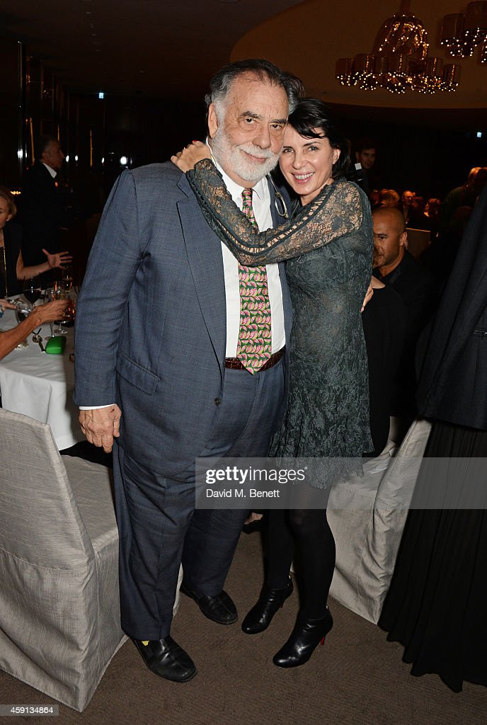 Francis Ford Coppola and Sadie Frost attend the Liberatum Cultural Honour for Francis Ford Coppola at The Bulgari Hotel on November 17 2014 in London...