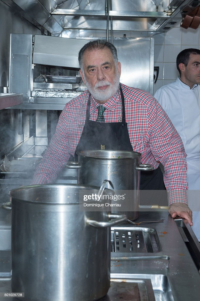 Francis Ford Coppola cooks pasta for the Dinner hosted by Dior as part of Marrakech 15th International Film Festival at Hotel Royal Mansour on...