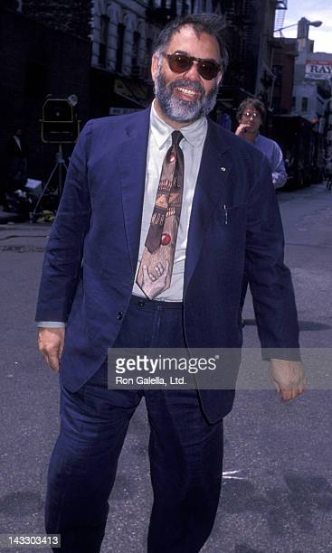 Francis Ford Coppola sighted on location filming 'Godfather III' on May 18 1990 in New York City